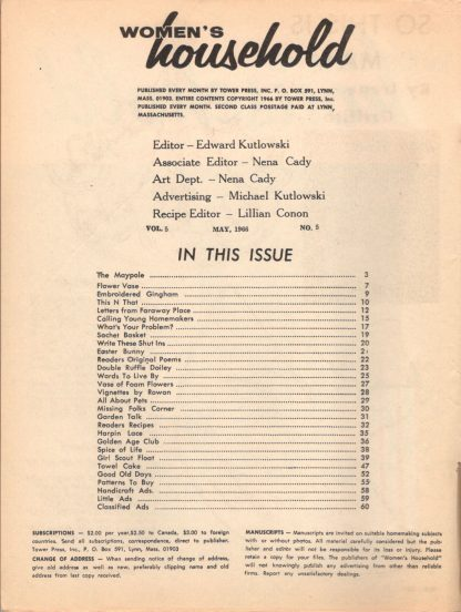Woman's Household - May 1966 (contents)